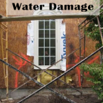 Water damage on walls and in homes