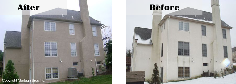 Stucco remediation before and after